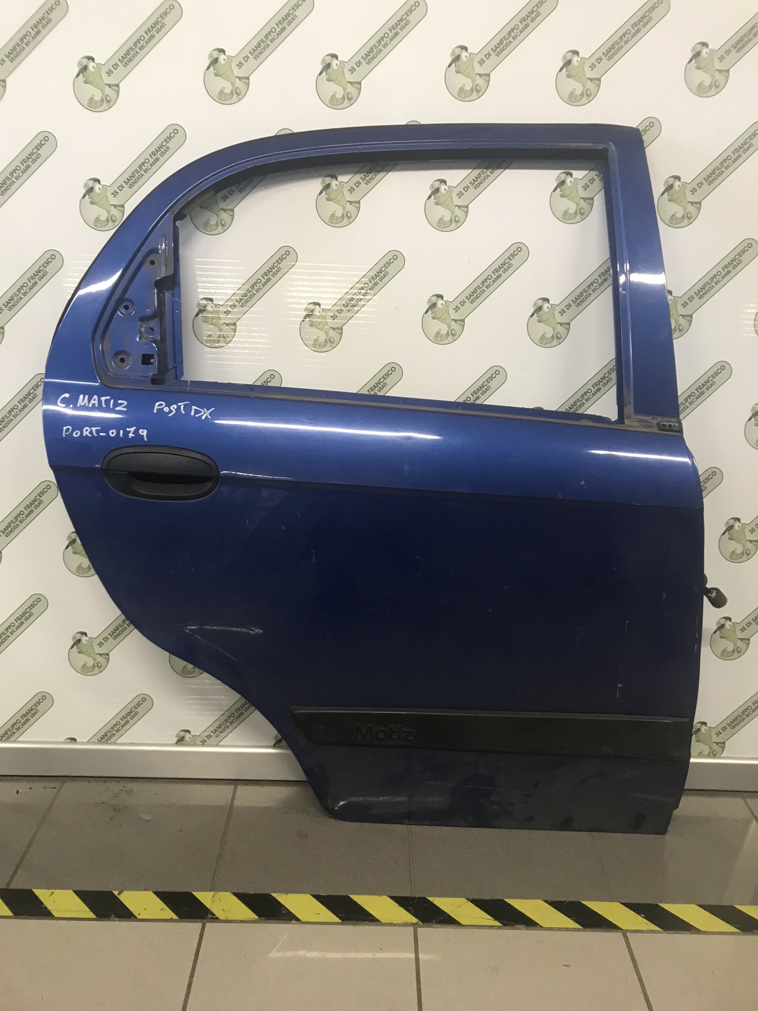PORTA POST. DX CHEVROLET MATIZ BLU